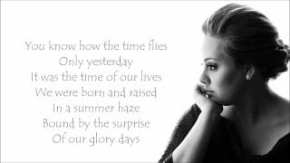 Adele - Someone Like You Lyrics Video