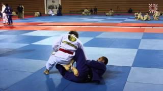 BJJ Red Belt Grand Master Hilton Leao rolling with Black Belts in Abu Dhabi