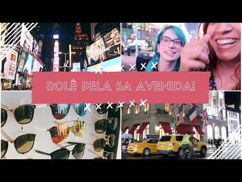 NOVA YORK A NOITE: LOJAS, 5A AVENIDA E  TIMES SQUARE!