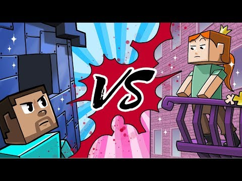 Minecraft | BOY VS GIRL HOUSE CHALLENGE! (Girl Army vs Boy A
