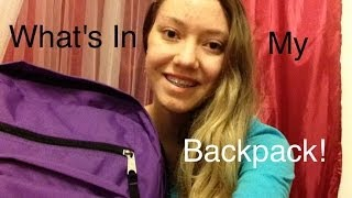 What's In My Backpack 2014 Thumbnail