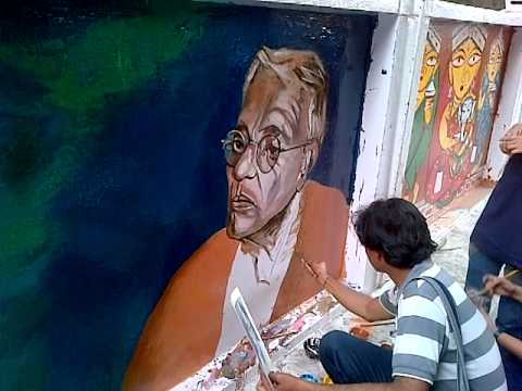 Streetside artists in Kolkata.... they have never been recognized or awarded