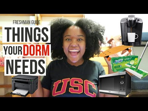 What to BRING to COLLEGE! BEST DORM CHECKLIST FOR FRESHMAN