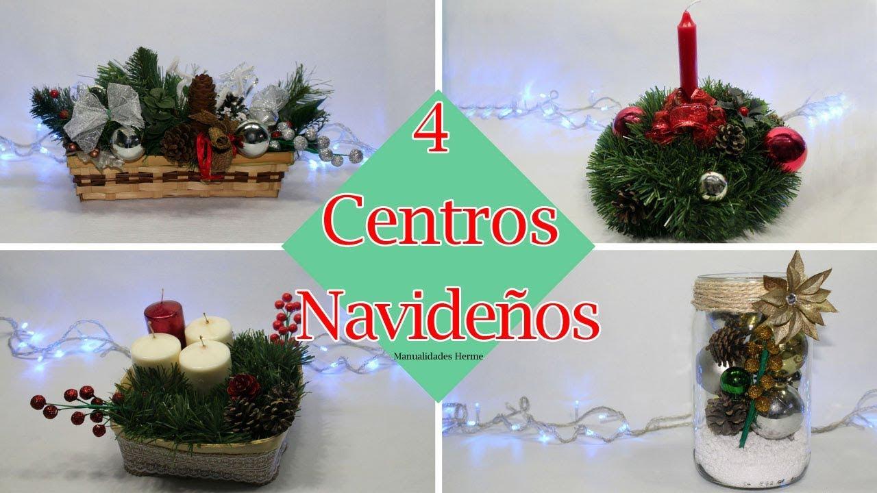4 centros de mesa para navidad youtube - Como hacer centros de mesa para navidad ...
