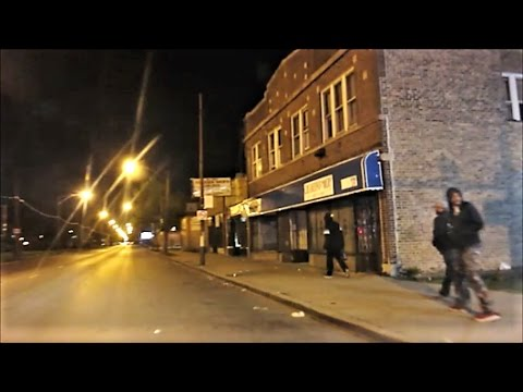 CHICAGO'S SOUTH SIDE ROSELAND HOOD AT NIGHT