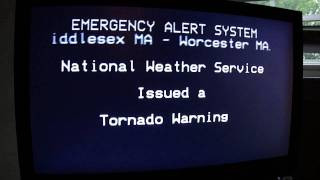 EMERGENCY ALERT SYSTEM - Tornado Warning - Springfield, Massachusetts