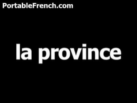 French word for province is la province