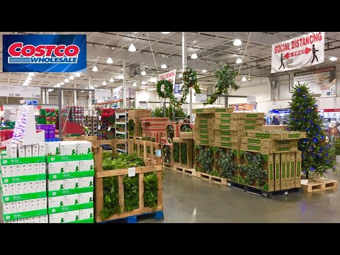 COSTCO CHRISTMAS DECORATIONS CHRISTMAS HOME DECOR TREES SHOP WITH ME SHOPPING STORE WALK THROUGH