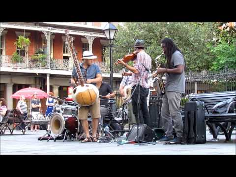 """Buku Broux"" play LIVE in Jackson Square, New Orleans, 4-30-2015"