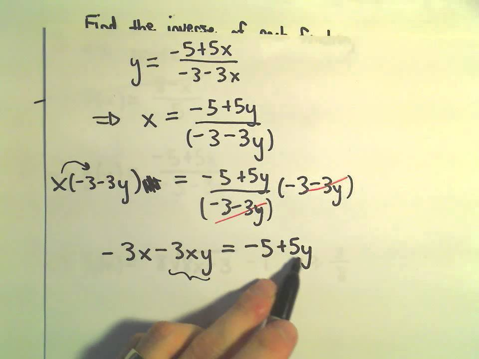 Finding The Inverse Of A Function Or Showing One Does Not