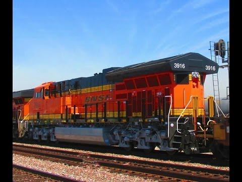 BNSF ET44C4 3916, Keller Yard, & other trains in El Monte, L.A. & Commerce