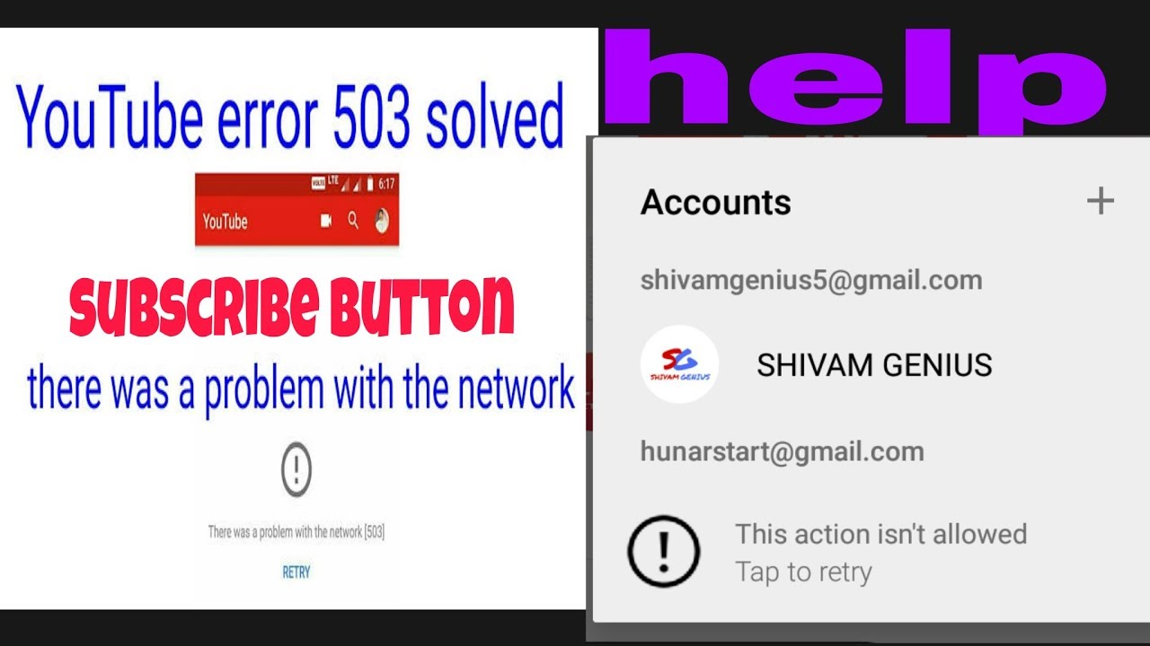 How to fix | This action isn\u0027t allowed | There was a problem with