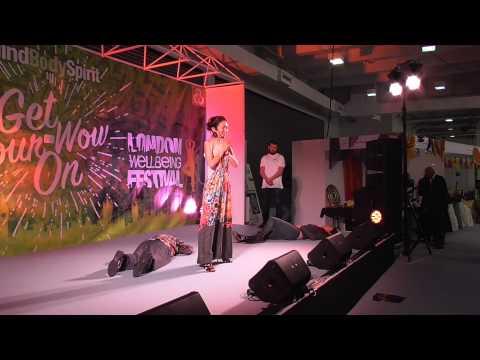 Mind Body Spirit 2015- Momoyo on stage.