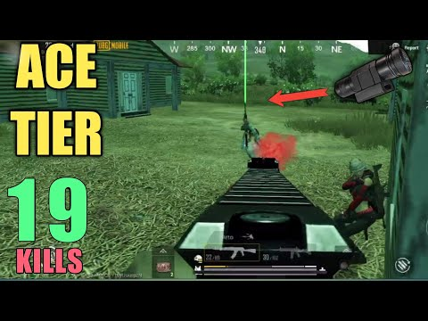 New Laser Sight Is Here | 19 Ace Kills Squad | PUBG Mobile