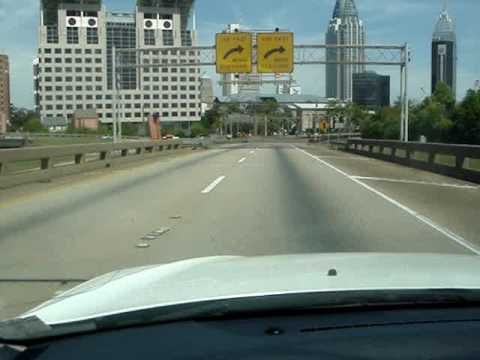 """George Wallace Tunnel"" (MOBILE, AL)  Drive through on the I-10 eastbound side"