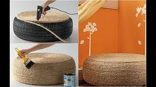 BRICOLAGE DECOR أفكار الحرف سهلة في المنزل كيف تصنع كرسي من إطار عجلة السيارة