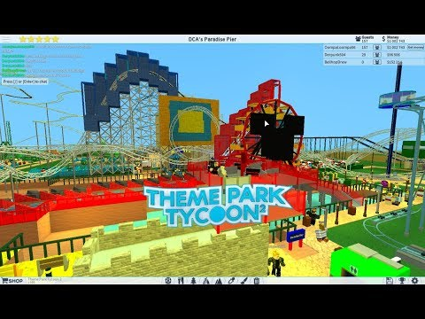 ROBLOX: NEW Hydraulic California Screamin' recreation at DCA at Theme Park Tycoon 2 (2018) Daytime