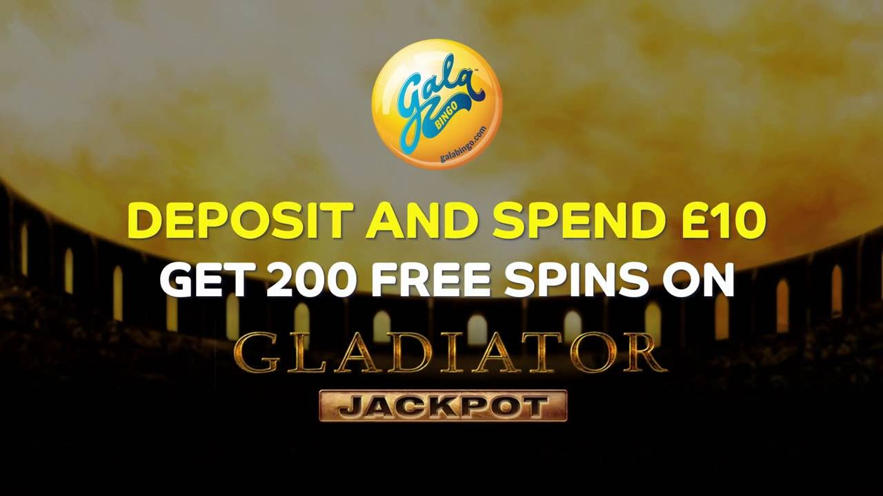 Gala Bingo Gladiator Jackpot Slot 200 Free Spins Youtube