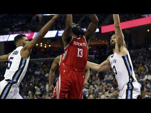 Marc Gasol Technical! Rockets Hold Grizzlies to 83 Season Low! 2017-18 Season