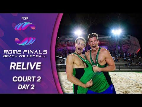 FIVB Beach Volleyball World Tour Finals 2019   Court 2 - Day 2   Rome