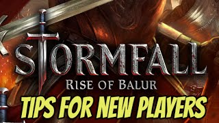 Stormfall : Rise of Balur  - TOP 5 Tips for New players (iOS Gameplay)