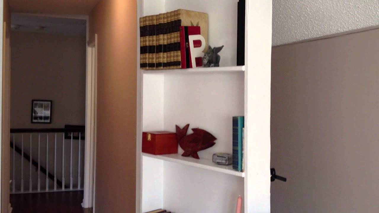 door with watch for bookcase hidden latch youtube bucket