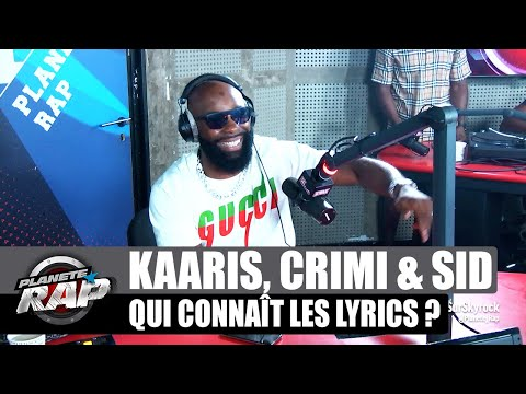 Youtube: Kaaris – Qui connaît les lyrics? avec Kalash Criminel & Sid les 3 éléments #PlanèteRap