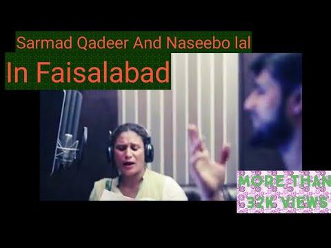 Sarmad Qadeer and naseebo lal  Medley Night in Faisalabad