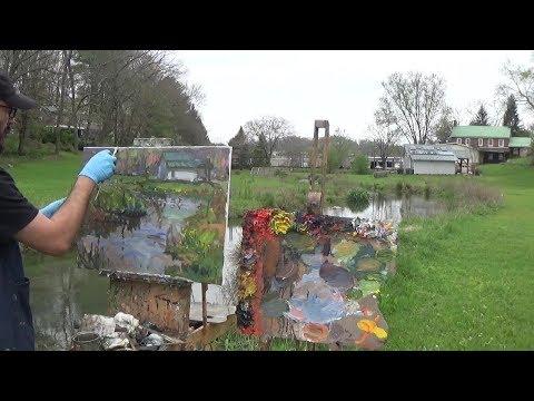 Kyle Buckland Beginner Plein Air Oil Painting Landscape Demonstration Art Lesson #10
