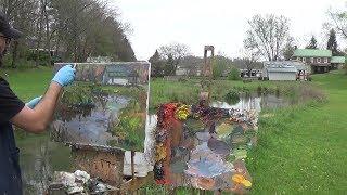 Kyle Buckland Beginner Plein Air Oil Painting Demonstration Landscape Art Lesson #10