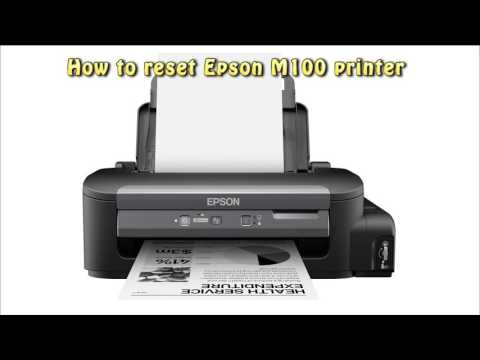 Reset Epson M100 Waste Ink Pad Counter