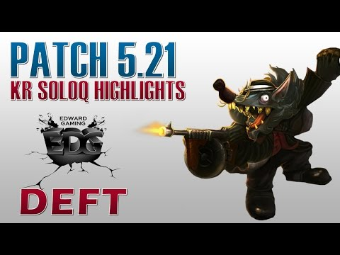 EDG Deft - Twitch Bot Lane - KR SoloQ Highlights