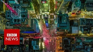 Stunning aerial photos capture US cities from above - BBC News