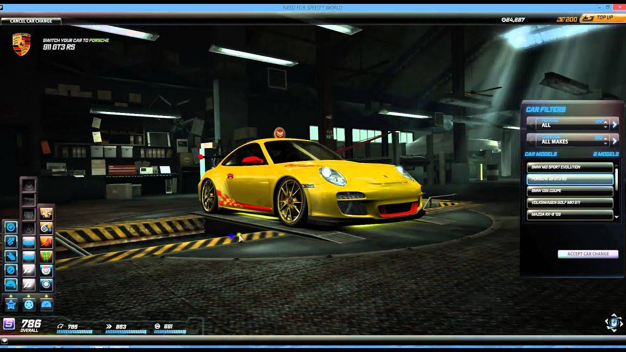 Need for speed world il mio garage youtube for Progetta il mio garage