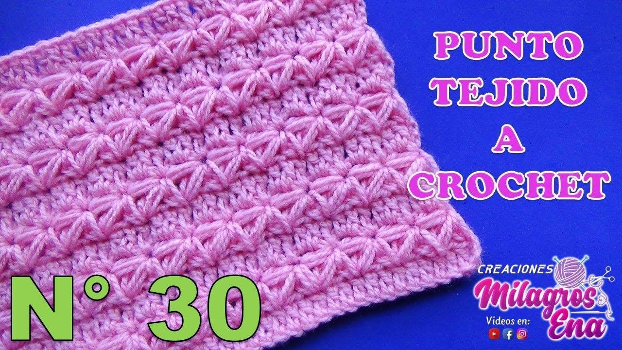 Preferenza Punto a crochet para prendas de invierno aplicando el punto  AR57