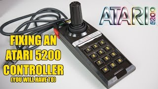 Atari 5200 controller repair Part 1 - fixing two common problems