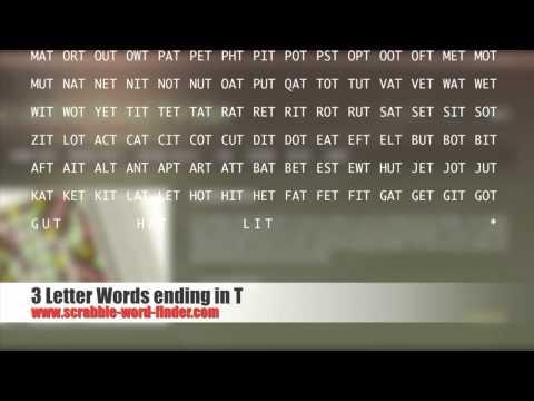3 letter words ending in t