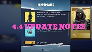 4.4 UPDATE PATCH NOTES! FIRE NOC, REPORT SCAMMING,INCLINE TRAPS Fortnite Save The World