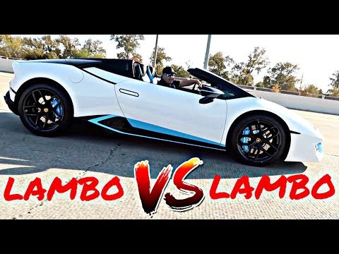 WE FINALLY RACED | LAMBORGHINI HURACAN VS AVENTADOR**