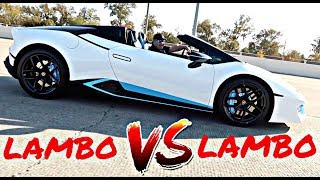 WE FINALLY RACED | LAMBORGHINI HURACAN VS AVENTADOR**