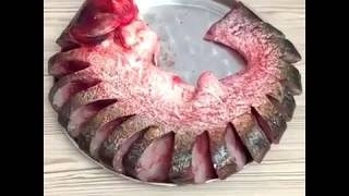 Запечённые стейки  из толстолобика