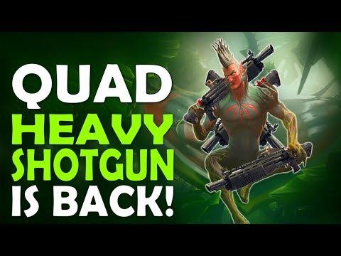 QUAD HEAVY SHOTGUN IS BACK | IS FORTNITE DYING | HIGH KILL FUNNY GAME - (Fortnite Battle Royale)