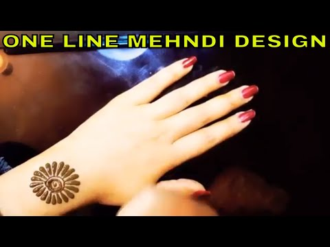 SINGLE LINE MEHNDI DESIGN || ONE LINE MEHNDI DESIGN ||SIMPLE AND EASIEST ONE LINE MEHNDI