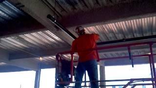 Sprinkler pipe installation in Newark