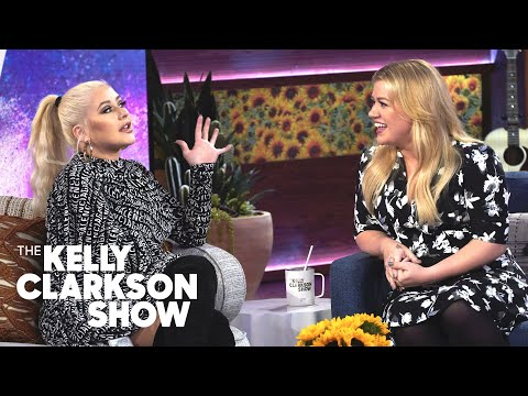 Ashley Nics - Christina Aguilera Stops By Kelly Clarkson's New Show