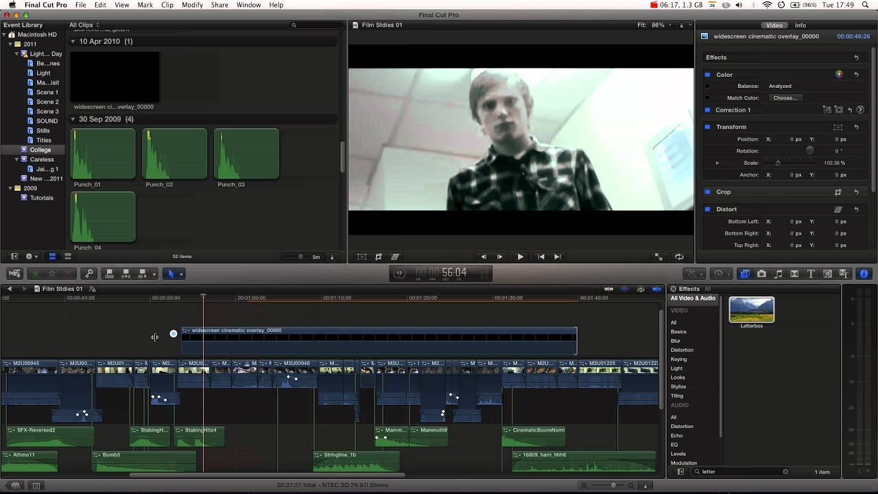 Final Cut Pro X Tutorial Pt 15 Anamorphic Widescreen