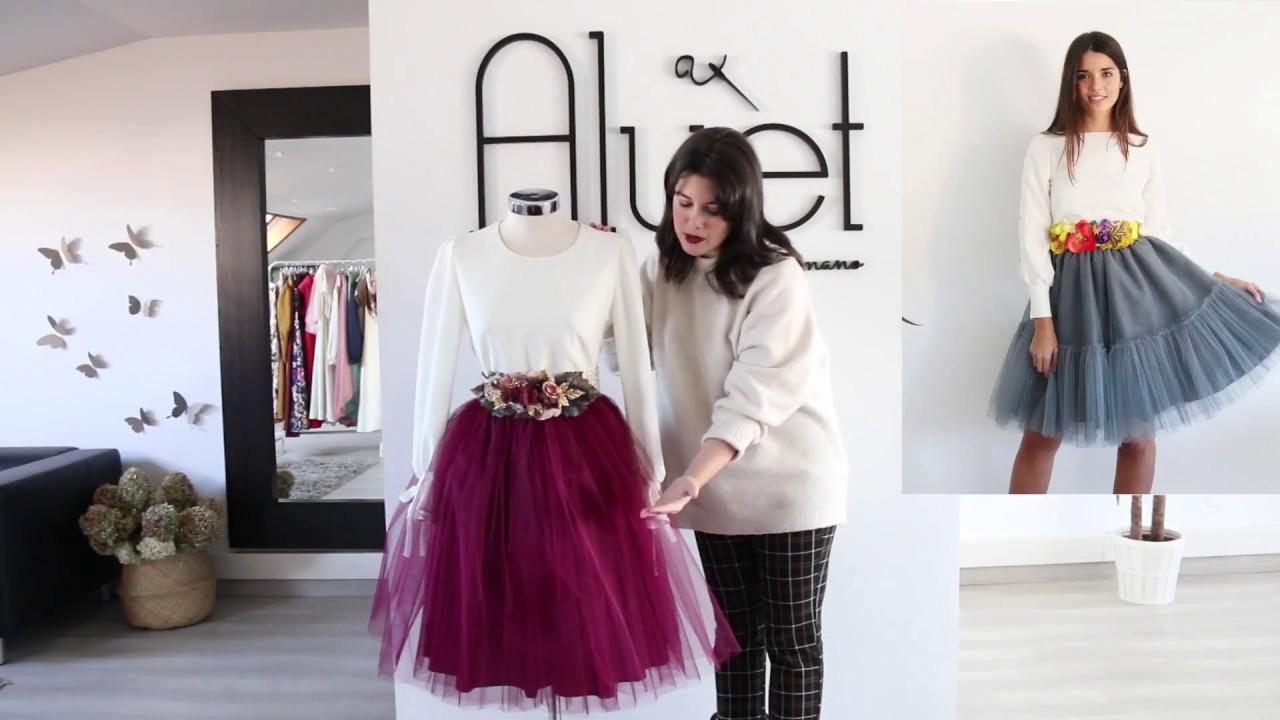 998a302d83 Cómo dar volumen a vuestras faldas de tul de Aluèt - YouTube