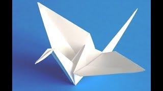 Как СДЕЛАТЬ   журавлика СЧАСТЬЯ  .Поделки из бумаги.flapping bird 🕊️