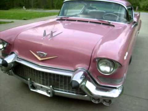 57 Cadillac Coupe Deville Dusty Rose - YouTube