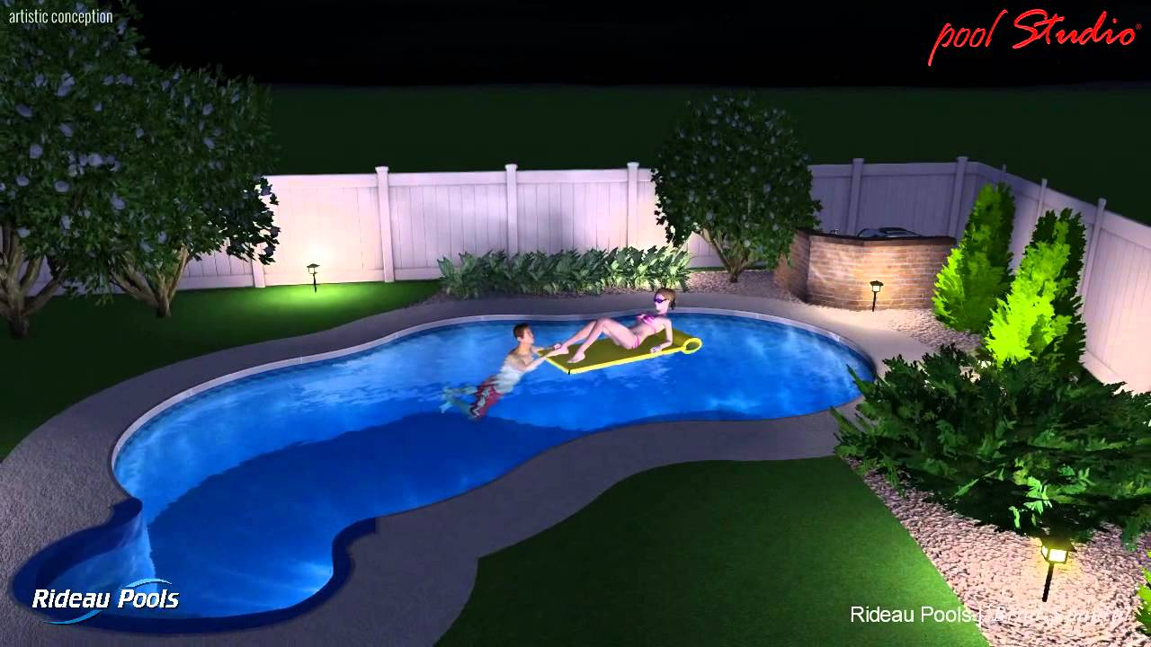12 x 24 oasis design by rideau pools ottawa youtube for 12x24 pool design